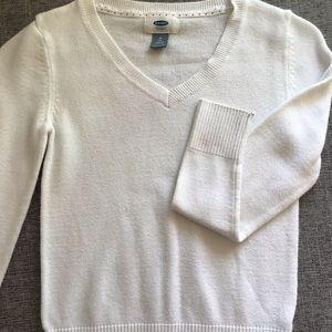 White Old Navy Sweater girls size 8
